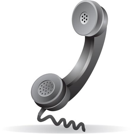 receiver: black telephone