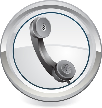 cable telefono: tephone web icono Vectores