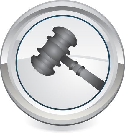 judges: Gavel - Retro Clip Art web icon Illustration