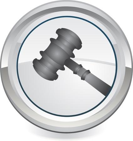 Gavel - Rétro Clip Art icône web Banque d'images - 13649683