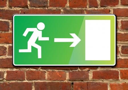 evacuate: exit