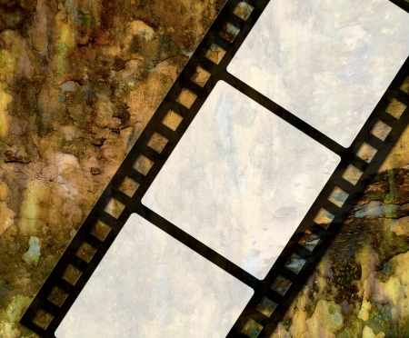 Grunge vintage 35 mm film background with space for text             Stock Photo - 13681847