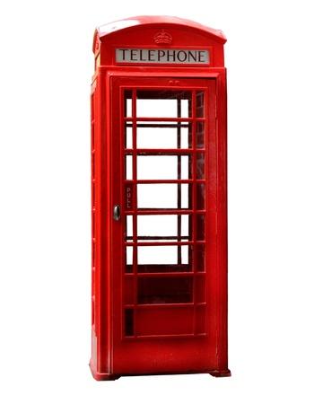 cabina telefonica: La cabina telefónica roja típica de Londres, Reino Unido Foto de archivo