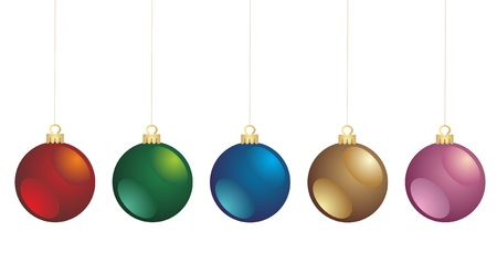 natale: Christmas bauble collection  Vector  Illustration