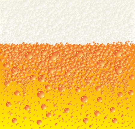 Background with beer and foam Vector