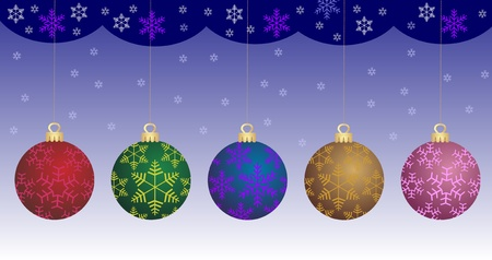 natal: Christmas bauble collection  Vector  Illustration