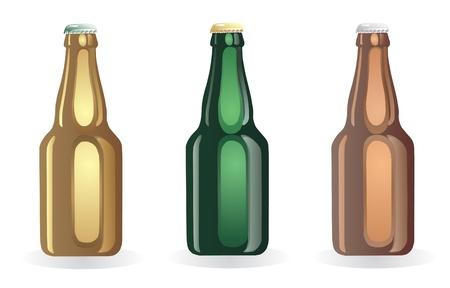cerveza negra: Botella de cerveza Vectores