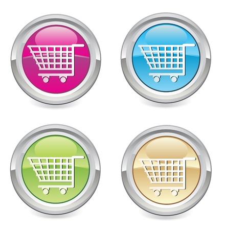 sign store: shop cart icon Illustration