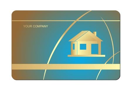 visiting: Vector business card set  Illustration