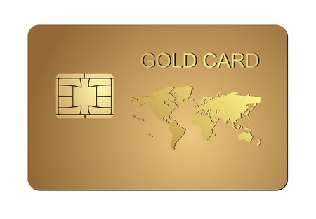 bankcard: Illustration of credit card on a white background  Vector