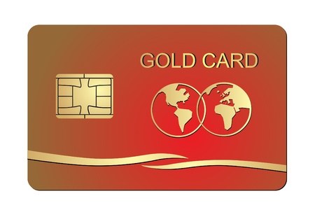 plastic card: Illustration of credit card on a white background  Vector