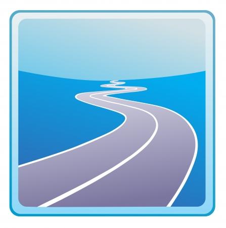 Vecteur routier icône Banque d'images - 13707006