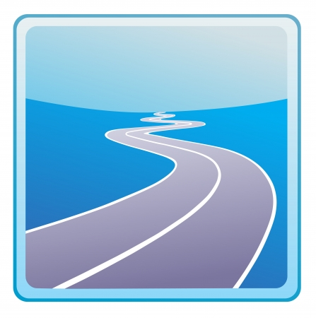 winding road: vector road icon