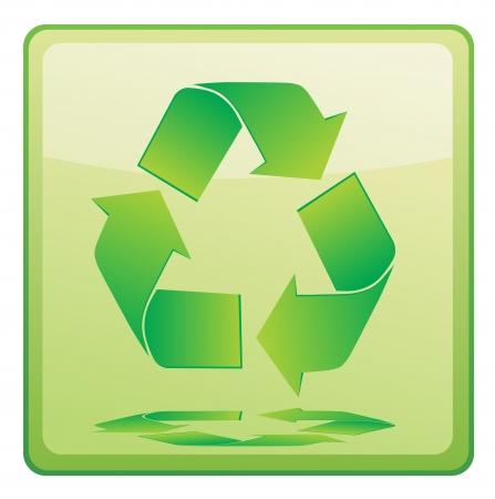Green vector recycle icon Stock Vector - 13707010