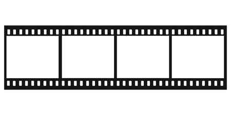 Four Film Strips  With Holes   Stock Photo