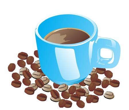 hot soup: Cup  mug  of hot drink  coffee, tea etc   Illustration