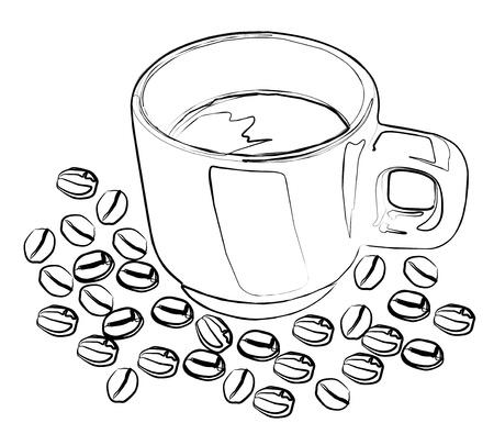 Cup  mug  of hot drink  coffee, tea etc   Stock Vector - 13707020
