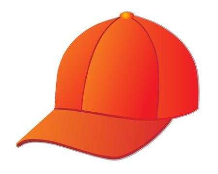 hat with visor: red cap Illustration