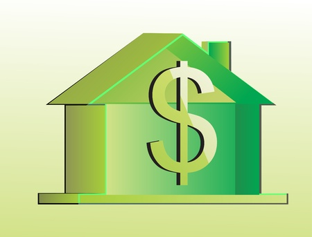 environmentally: eco home Illustration