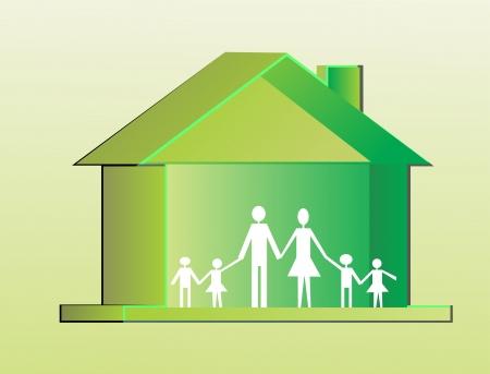 eco home Stock Vector - 13706979