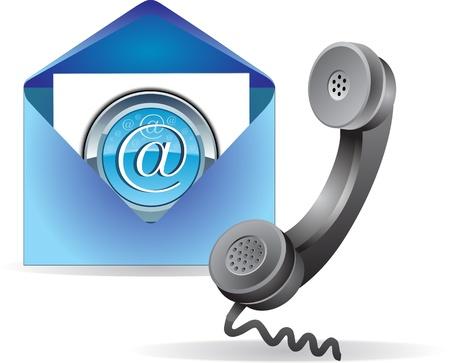 Contactez-nous icône Banque d'images - 13706989