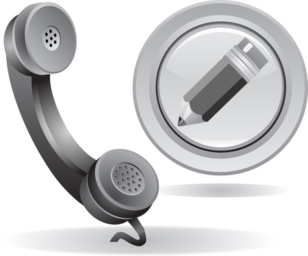 telephone receiver: contact us icon