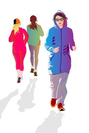 jogging Stock Vector - 13706999