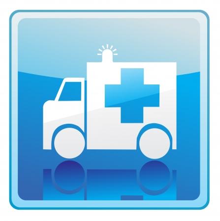 Ambulance sign icon Illustration