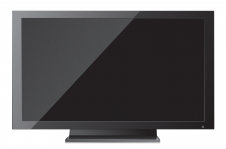 Flat screen tv isolated in white Stock Vector - 13749633