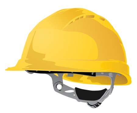 hard working man: safety hard hat