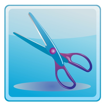 scissors icon Stock Vector - 13749659