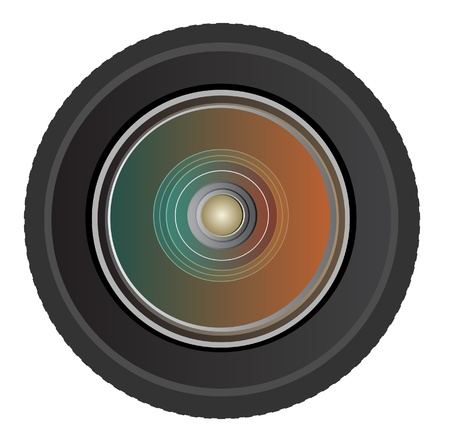 Camera photo lens, vector Stock Vector - 13749599