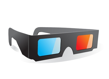 3D glasses: Vector 3D Glasses Icon