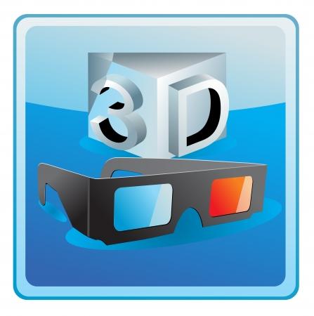 stereoscope: Vector 3D Glasses Icon