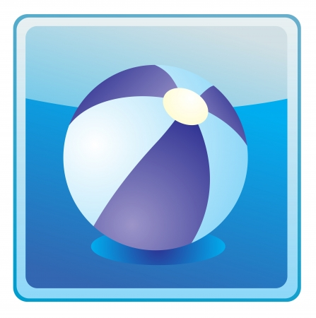 Beach ball icon Stock Vector - 13749655