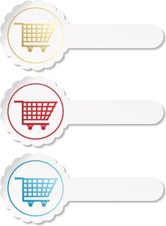 shopping cart item - buy buttons  Vector