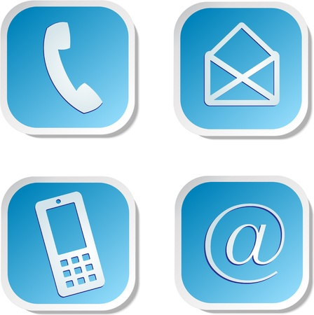 hotline: Kontakt Aufkleber