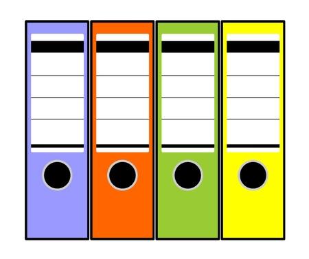 folders for documents Vector