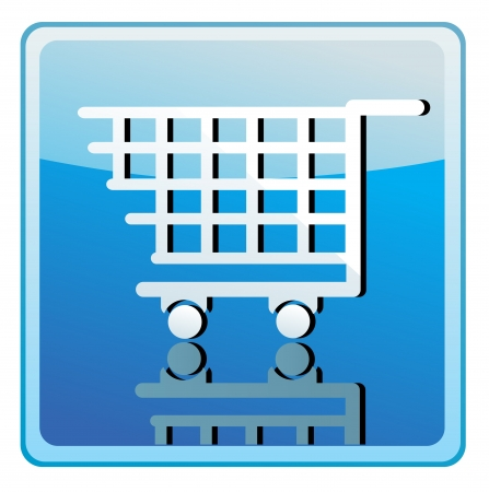 Shopping cart icon  Stock Vector - 13775069