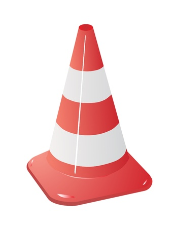 traffic cone isolated over white Vector