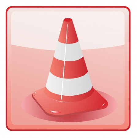 road marking: traffic cone icon