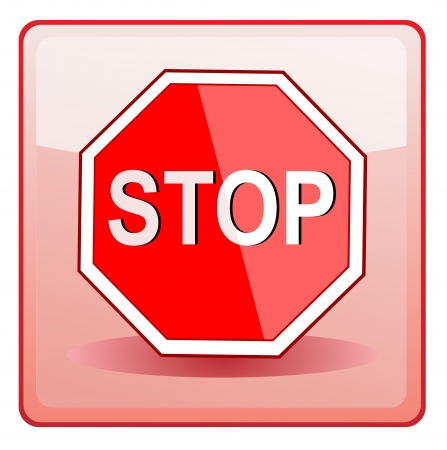 Stop Sign icon Stock Vector - 13781688