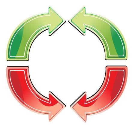 interface menu tool: simbolo della freccia