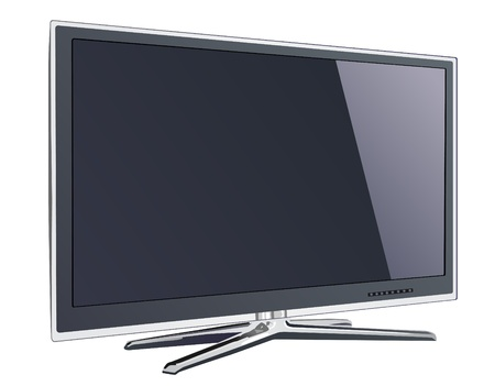 flat screen tv: screen tv display Illustration