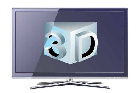 tft: screen tv display Illustration