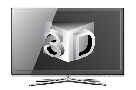 screen tv: screen tv display Illustration