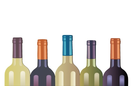 aligote: wine bottles Illustration