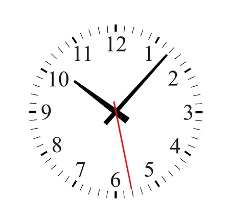 illustration of a clock  Stock Vector - 13797613
