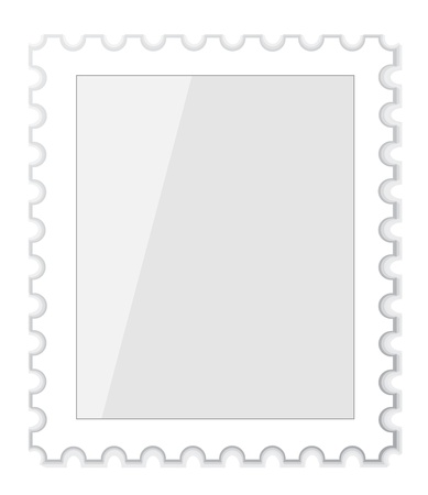 Vector set of blank postage stamps Vector