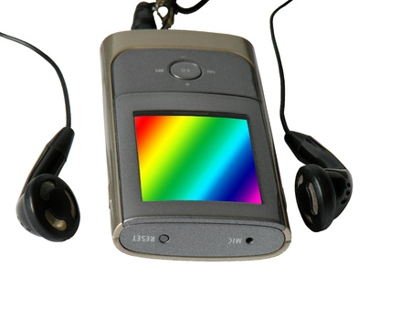 mpg: Mp3 player Stock Photo